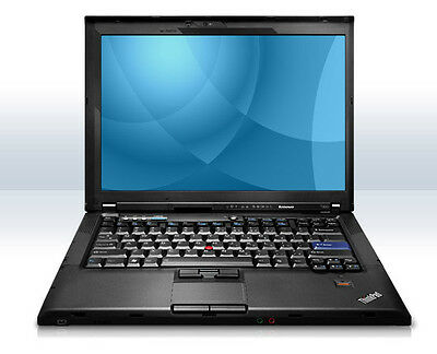 "Lenovo T400 14.1"" Laptop PC Intel P8400 Core 2 Duo 120GB HDD 4GB RAM No OS"