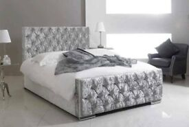 💖🔥💖💥SAME/NEXT DAY EXPRESS DELIVERY💖BRAND New Double/King Crush Velvet Chesterfield Bed+Mattress