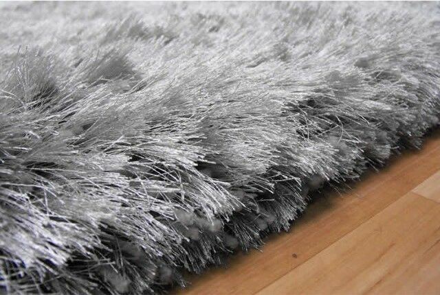 Next Large Silver Grey Sparkle Rug 160 X 230cm Rrp 175 Bargain Reduced Price