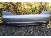 Audi A6 s line saloon rear bumper , twin exit Le Mans model, fits 2004-2008 £50