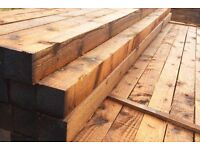 Wood/timber posts 4x4,2.4 long treated x 10