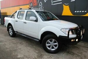 2012 Nissan Navara D40 S6 MY12 ST Arctic White 5 Speed Sports Automatic Utility Melrose Park Mitcham Area Preview