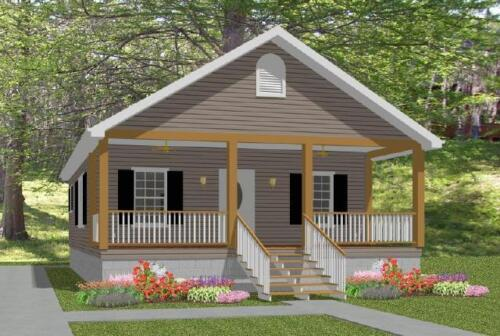 Custom Small House Home Building Plans 2 bed Narrow 784sf--- PDF file
