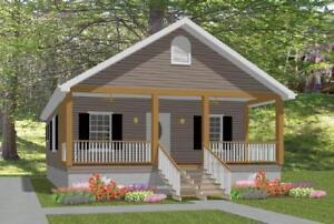 ON SALE Custom House Small Home Blueprints Plans 2 bedroom Cottage 784sf PDF