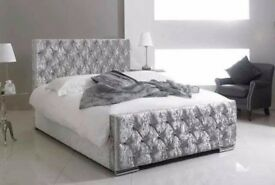 💖🔥💥💖UK TOP QUALITY BRAND🔥💥Brand New Double/King Crush Velvet Diamond Chesterfield Bed+Mattress
