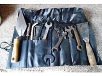 ANTIQUE/VINTAGE TOOL WRAP. SPANNERS & MISC TOOLS.