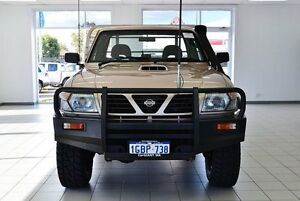 2002 Nissan Patrol GU ST (4x4) Gold 5 Speed Manual 4x4 Cab Chassis Morley Bayswater Area Preview