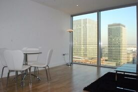 Modern 1 Bed Apartment on 31st Floor in Landmark Tower, Canary Wharf, E14, Concierge, Gym- VZ