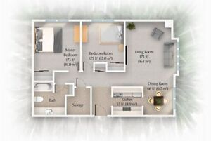 Spacious 2 bedroom apartment available in Clayton Park