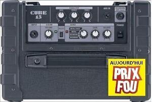 PRIX FOU Ampli de guitare usagé bonne condition ROLAND CUBE 15