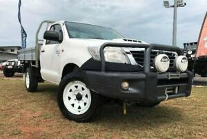 2014 Toyota Hilux KUN26R MY14 SR White 5 Speed Manual Cab Chassis Berrimah Darwin City Preview