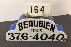 Vintage Double Sided Taxi Sign