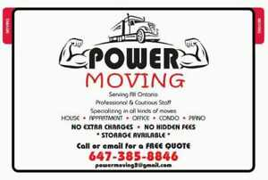 Power moving- reliable movers for your move!!