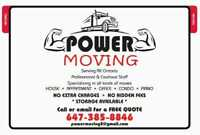 Power moving- we here to move you!!