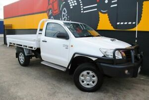 2011 Toyota Hilux KUN26R MY12 SR Super White 5 Speed Manual Cab Chassis Melrose Park Mitcham Area Preview