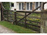 Five bar wooden gates