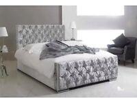 Diamonte Crushed Velvet Beds#ALL SIZES#HUGE SAVINGS