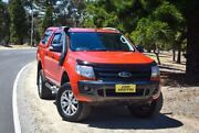 2013 Ford Ranger PX Wildtrak Double Cab Orange 6 Speed Manual Utility Medindie Walkerville Area Preview