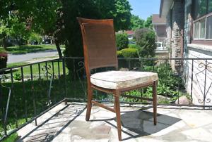 Vintage Cane back chair floral cushion