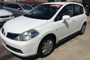 2007 Nissan Tiida C11 MY07 ST White 6 Speed Manual Hatchback Fyshwick South Canberra Preview
