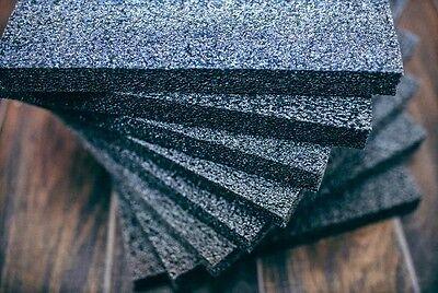 12 Pack 1 X 12 X 12 Black Polyethylene Foam 1.7pcf Free Shipping