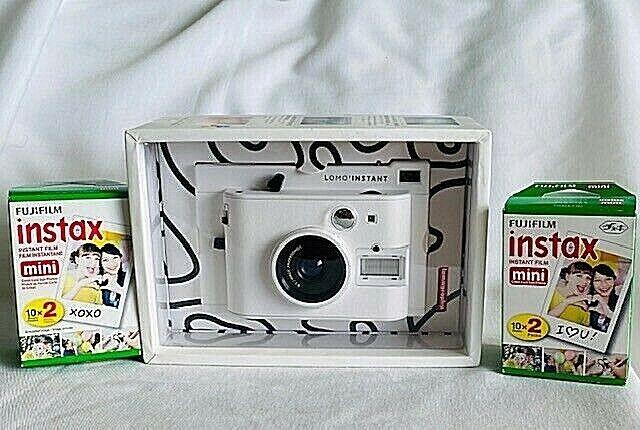 NEW in BOX LOMO Instant Automat Camera WHITE li100w 2 FUJI F