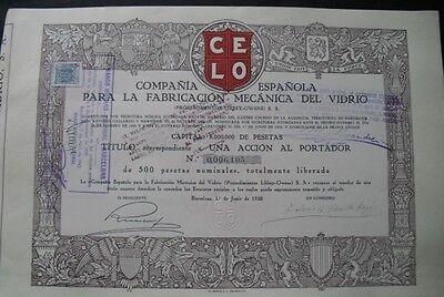 Fabricacion Mecanica del Vidrio 1928   Barcelona  DEKO