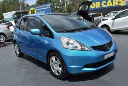 2009 Honda Jazz GE MY09 GLi Blue Manual Hatchback Campbelltown Campbelltown Area Preview