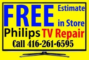 > Philips LCD, LED TV REPAIR, FREE ESTIMATE, ANY SIZE, No Power