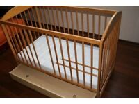 Cot Bed with Drawer and Mattress in Clean Perfect Condition