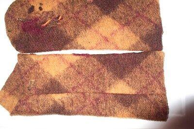 Stulpen - schöne gefilzte Handgelenk-Stulpen, orange-braun, reine Wolle, wie neu