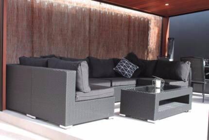 Outdoor All-Weather Wicker Modular Setting Settee Sofa Lounge
