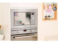 Indesit Built In 20L Microwave Oven Grill - Stainless Steel - MWI 122.1 X UK