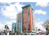 Stylish new building with 2 bed 2 bath flat available right now. DSS and families welcome