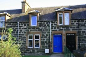 Terraced unfurnished 2/3 bedroom house for short term rent in Comrie, £550 pcm plus CT & bills.
