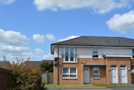 2 bed upper cottage flat, 5mins to M8 for commute to either Glasgow or Edinburgh in 20mins