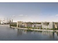 Luxury 1 bedroom , Modern development, 11th floor, Front view Thames, with large balcony