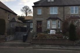 3 bed semi detached house for rent. 38 Edinburgh Road, Peebles
