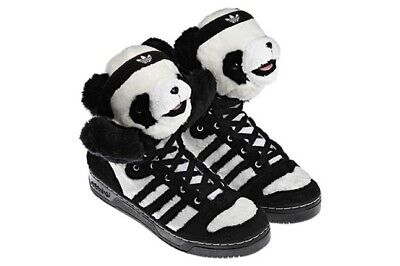 Adidas UK size 9 Panda Bear Jeremy Scott trainers