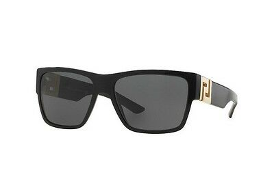 NWT Versace Sunglasses VE 4296 GB1/81 Black / Gray Polarized 59 mm VE4296 GB187