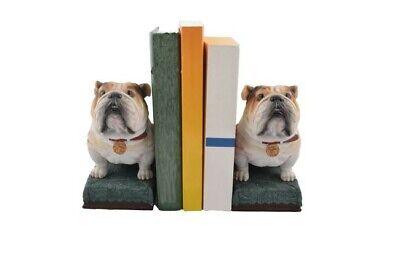 Bull Buchstützen (2er Set Buchstützen Bulldogge Figur Hund Buchstütze)