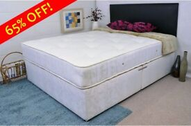 Christmas sale !! Deep Quilted Set in Double Or Small Double ! Divan Base With Deep Quilt Mattress