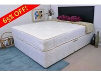 BRAND NEW --- KING SIZE DIVAN BED WITH LUXURY SUPER ORTHOPEDIC MATTRESS / ALSO IN DOUBLE & SINGLE