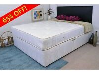 **100% PRICE MATCH!**BRAND NEW-Divan Double Bed With Economy Mattress, Drawers & Headboard Options