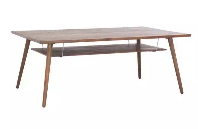habitat vince walnut coffee table with shelf rrp £350 | in camden