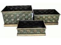 Metal planters / Storage boxes