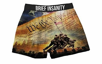 Brief Insanity We The People American Flag USA Boxers Shorts Underwear 7031