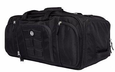6 Pack Fitness Beast Duffle Bag Meal Management Bag Black Stealth