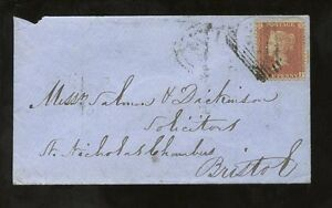 PENNY-RED-STAR-LCp14-on-1856-ENVELOPE-SCOTLAND-NAIRN-TOWN-CDS-in-GREEN