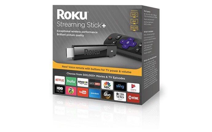Roku Streaming Stick+ Black 3810R